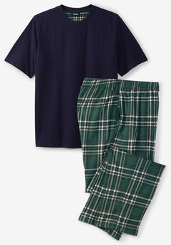 Jersey Knit Plaid Pajama Set,