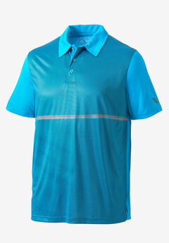 Striped Performance Polo by KS Sport™,