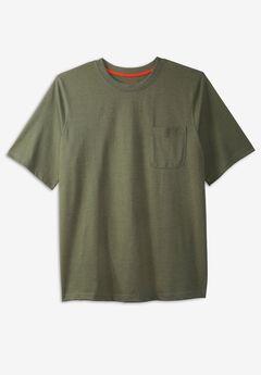 Boulder Creek® Heavyweight Crewneck Pocket T-Shirt,