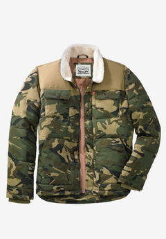 Woodsman Puffer Trucker Jacket by Levi's®, CAMO TAN