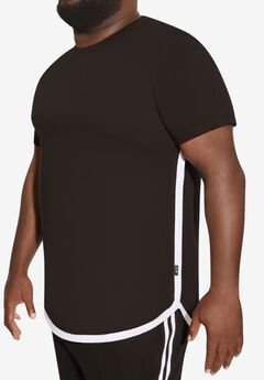 MVP Collections® Rose Screenprint Hi-Lo T-Shirt,
