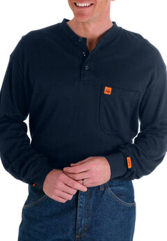 RIGGS Workwear® Flame Resistant Long Sleeve Henley by Wrangler®,