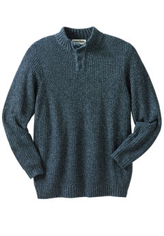 Henley Shaker Sweater, NAVY MARL