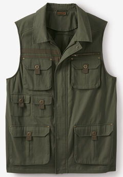 Boulder Creek™ Multi Pocket Vest, OLIVE