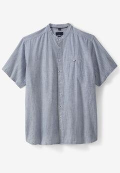 North 56°4® Band Collar Shirt, BLUE