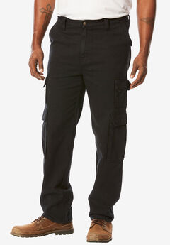 Liberty Blues® Side-Elastic Cargo Pants, BLACK DENIM