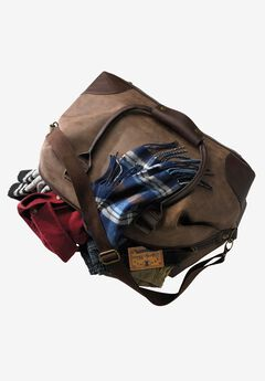 Oversized Weekender Bag, BROWN