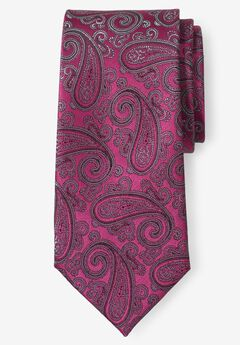 KS Signature Extra Long Classic Paisley Tie, PINK PAISLEY