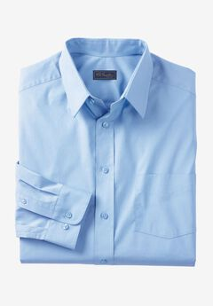 Classic Fit Broadcloth Flex Long-Sleeve Dress Shirt by KS Signature, SKY BLUE