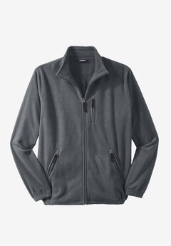 Full-Zip Fleece Jacket, STEEL