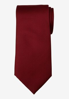 KS Signature Extra Long Classic Textured Tie, DEEP BURGUNDY