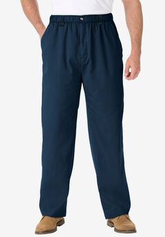 Knockarounds® Full-Elastic Waist Pants in Twill or Denim, NAVY
