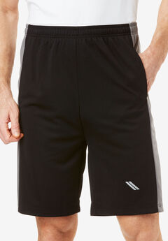 Power Wicking Shorts by KS Sport™, BLACK STEEL