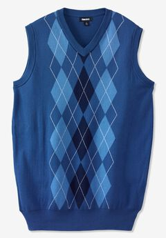 Cotton Argyle Vest,