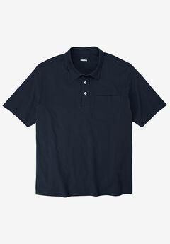 Lightweight Polo T-Shirt, NAVY