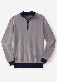 NORTH 56°4® 1/4 ZIP KNIT SWEATER,