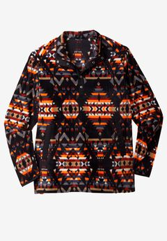 Explorer Fleece Quarter Snap Jacket by Boulder Creek®, AZTEC