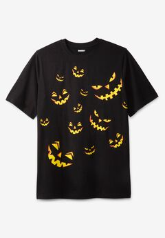 KingSize Seasonal Graphic Tee, SCARY PUMPKIN
