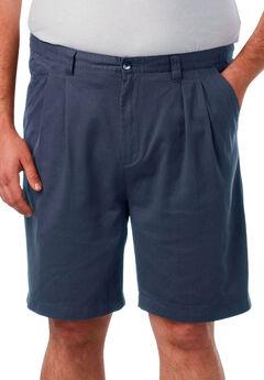 "Knockarounds® 8"" Pleat Front Shorts, NAVY"