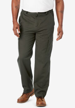 Boulder Creek® Renegade Cargo Pants with Side Elastic, FOREST GREEN