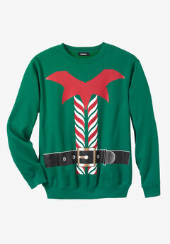 Festive Fleece Crewneck, ELF SUIT