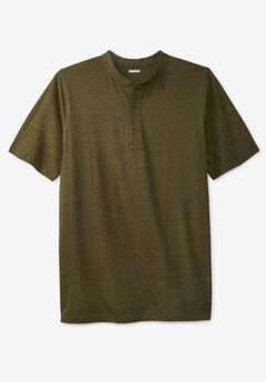 Shrink-Less™ Lightweight Henley T-Shirt,