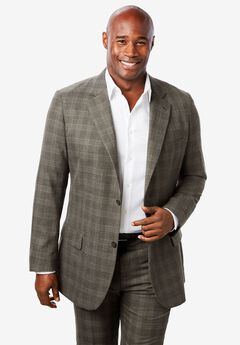 Easy Movement® Two-Button Jacket by KS Signature, DARK CHARCOAL WINDOW PANE