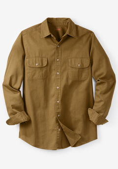 Boulder Creek® Long-Sleeve Button Down Shirt , BOULDER BROWN