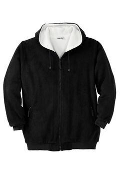 Plush Fleece Hoodie, BLACK