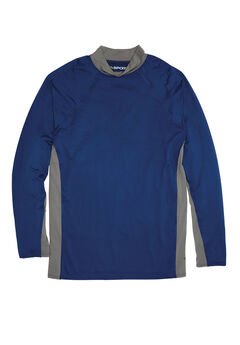 Mock Neck Base Layer Shirt by KS Sport™, MIDNIGHT NAVY