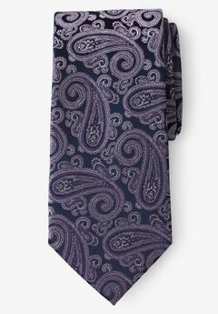KS Signature Extra Long Classic Paisley Tie, SOFT PURPLE PAISLEY