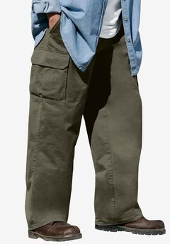 Boulder Creek® Renegade Cargo Pants with Side Elastic, OLIVE