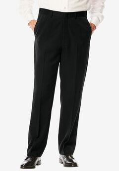 Signature Fit Wrinkle-Resistant Plain Front Dress Pants, BLACK