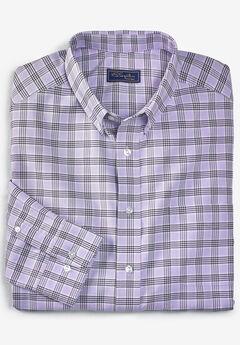 Wrinkle-Resistant Oxford Dress Shirt by KS Signature, SOFT PURPLE PLAID