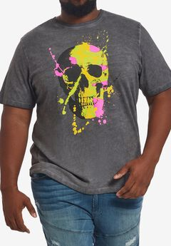 MVP Collections® Neon Skull T-Shirt,