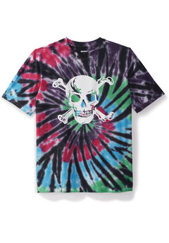 Tie-Dye Screenprint Tee, SKULL