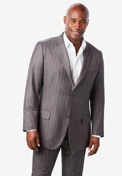 Easy Movement® Two-Button Jacket by KS Signature, GREY PINSTRIPE