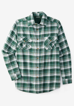 Plaid Flannel Shirt, VINTAGE GREEN PLAID