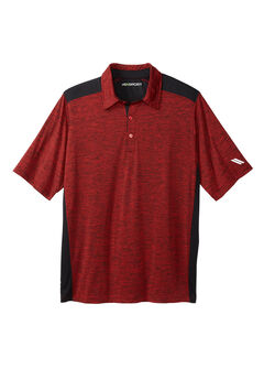 Tech Polo by KS Sport™, BLAZE RED MARL