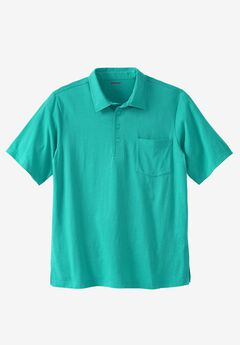 Lightweight Pocket Golf Polo Shirt, TIDAL GREEN