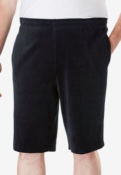 Velour Shorts, BLACK