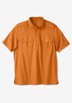 Heavyweight Short-Sleeve Pilot Polo Shirt,