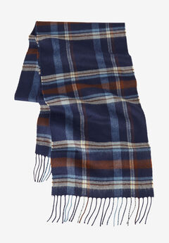 Extra Long Scarf, NAVY PLAID