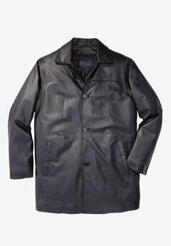 Leather Car Coat,