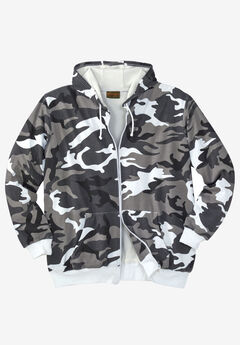 Boulder Creek® Full-Zip Thermal Hoodie, STEEL CAMO