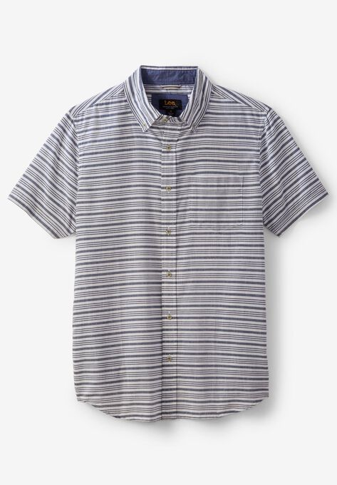 0179abcbba31a2 Short-Sleeve Button-Down Woven Shirt by Lee®| Big and Tall All Dress ...