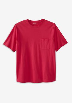 Shrink-Less™ Lightweight Pocket Crewneck T-Shirt,