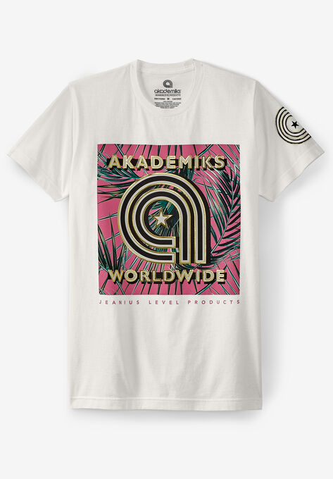 49e76a7583f3ec Akademiks® Worldwide Logo Graphic T-Shirt