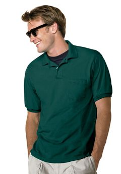 Hanes® ComfortBlend® EcoSmart® Jersey Polo with Pocket,
