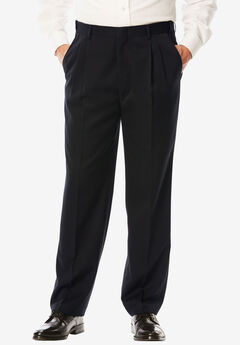 Signature Fit Wrinkle-Resistant Pleat Front Dress Pants,